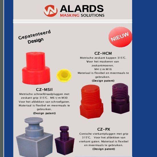 gepatenteerde maskeringen tbv oppervlaktebehandelingen