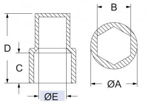 hcm metriche zeskant siliconen kappen